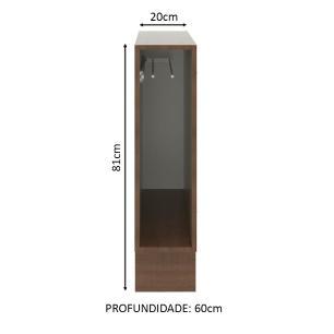 Balcão Porta Pano 20 x 60 cm Madesa - Rustic