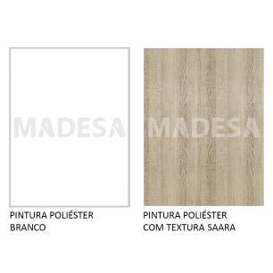 Balcão Madesa Stella 80 cm 2 Portas - Branco/Saara
