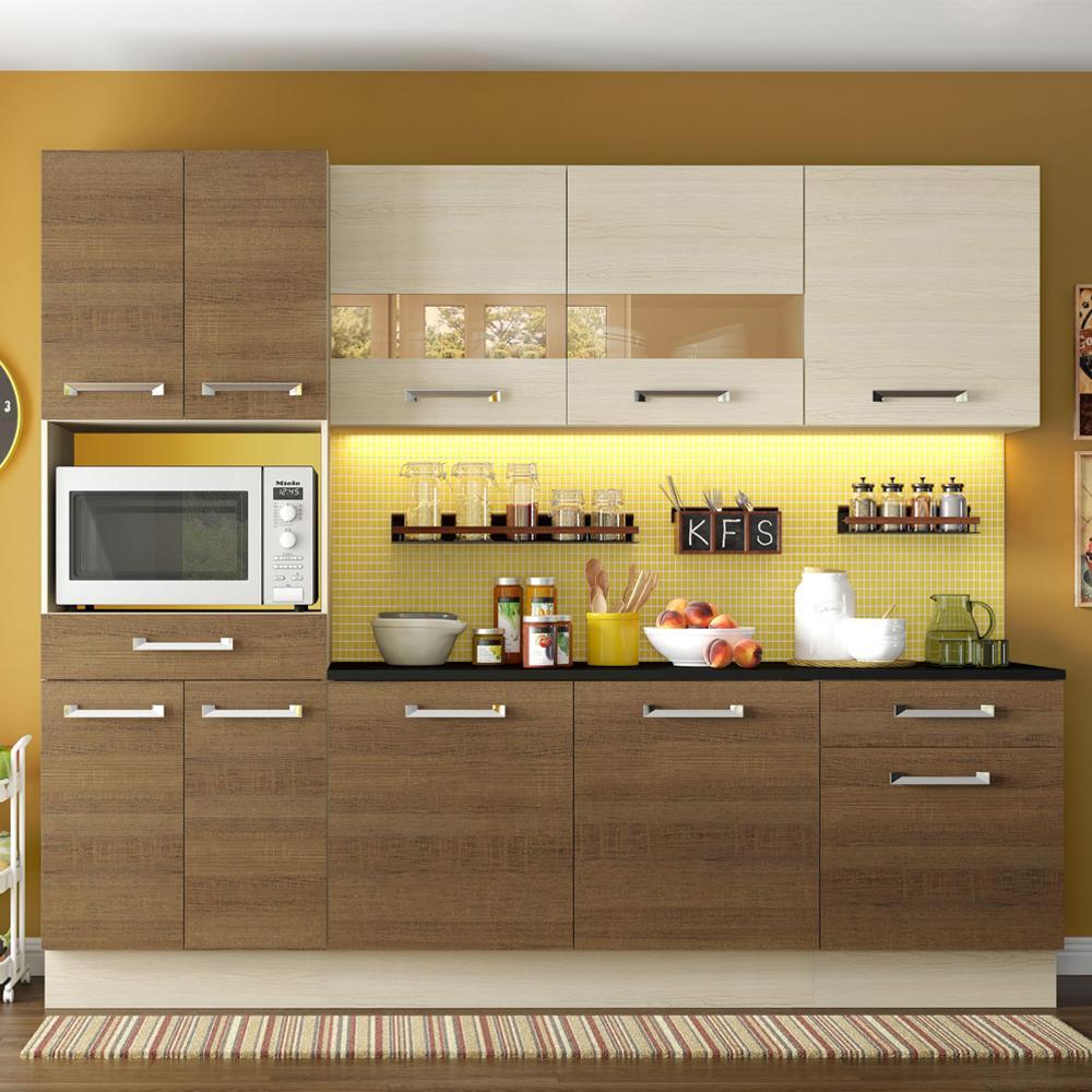 Cozinha Completa Madesa Rubi com Armário e Balcão 10 Portas 2 Gavetas