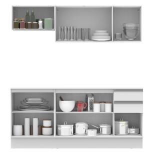 Cozinha Compacta 100% MDF Madesa Smart 180 cm Modulada Com Balcão e Tampo