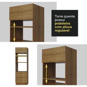 Torre Quente Madesa Stella 70 cm 3 Portas - Rustic