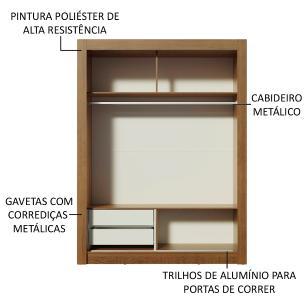 Kit Madesa Guarda-Roupa Infantil Dallas 2 Portas de Correr de Espelho + Beliche Larissa