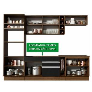 Cozinha Completa Madesa Vicenza com Armário e Balcão + Tampo