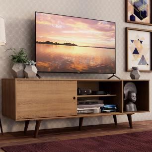 Rack Madesa Dubai para TV até 65 Polegadas com Pés - Rustic