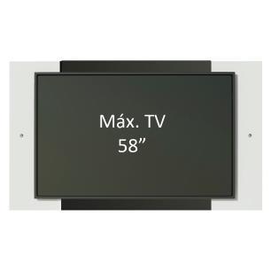 Painel para TV até 58 Polegadas Madesa - Branco/Preto