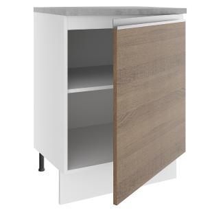 Balcão Madesa Glamy 60 cm 1 Porta - Branco/Rustic