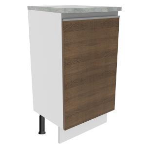 Balcão Madesa Glamy 40 cm 1 Porta - Branco/Rustic