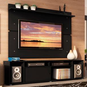 Rack Madesa Cancun e Painel para TV até 65 Polegadas - Preto