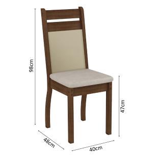 Conjunto Sala de Jantar Madesa Louise Mesa Tampo de Vidro com 8 Cadeiras