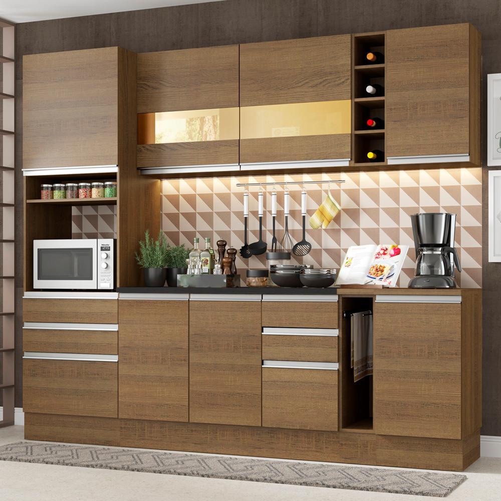 Cozinha Completa Madesa Lazio Com Armário e Balcão (Sem Tampo e Pia)