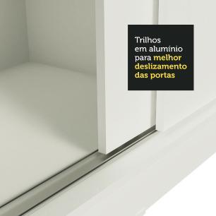 Guarda-Roupa Casal Madesa Istambul 3 Portas de Correr de Espelho 3 Gavetas - Branco