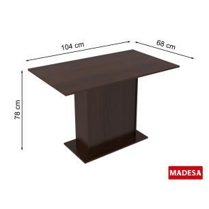 Mesa Madesa com Tampo de Madeira 5329