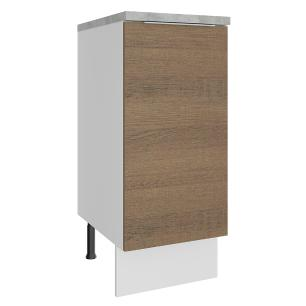 Balcão Madesa Stella 35 cm 1 Porta - Branco/Rustic