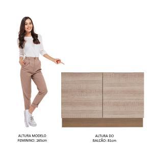 Balcão de Pia Madesa Stella 2 Portas - Rustic/Saara