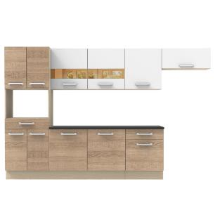 Cozinha Compacta Madesa Rubi com Armário e Balcão 11 Portas 2 Gavetas