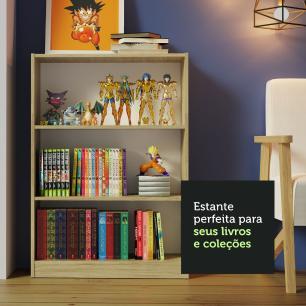 Kit Madesa Estante Livreiro 6905 + Estante Livreiro 6907 - Carvalho