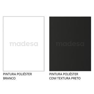 Mesa para Computador Gamer Madesa 9409 e Painel para TV até 65 Polegadas - Branco/Preto