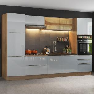 Cozinha Completa Madesa Lux com Armário e Balcão - Rustic/Cinza