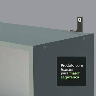 Escrivaninha Madesa Rubi + Estante Livreiro 6907 - Cinza