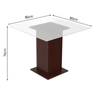 Conjunto Sala de Jantar Madesa Sol Mesa Tampo de Vidro com 4 Cadeiras