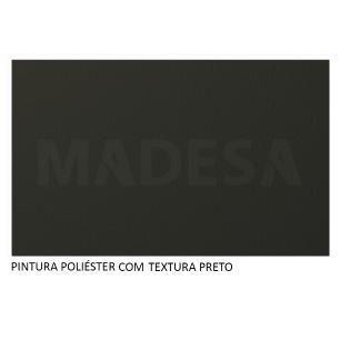 Rack Madesa Cairo e Painel para TV até 65 Polegadas com Pés de Madeira - Preto/Rustic