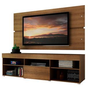 Rack com Painel para TV até 65 Polegadas Madesa Havaí 1 Porta - Rustic