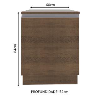 Balcão Madesa Glamy 60 cm 1 Porta - Rustic