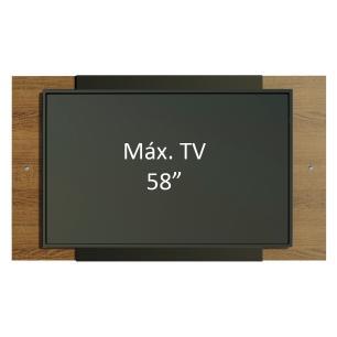 Painel para TV até 58 Polegadas Madesa - Rustic/Preto