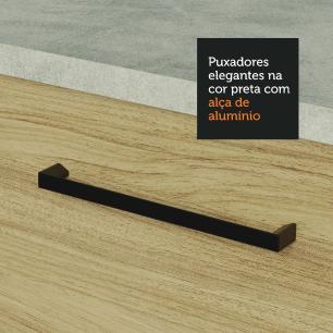 Armário Aéreo Madesa Agata 35 cm 1 Porta - Branco/Carvalho