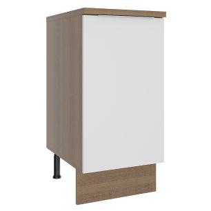 Balcão Madesa Stella 40 cm 1 Porta - Rustic/Branco