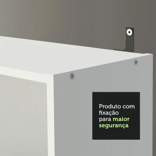 Escrivaninha Madesa Rubi + Estante 6908 + Estante 6907 - Branco/Preto