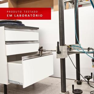 Kit Área de Serviço Madesa Topazio 60 cm com Armário e Balcão - Branco/Rustic