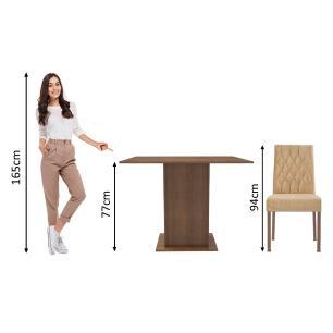 Conjunto Sala de Jantar Madesa Maju Mesa Tampo de Madeira com 2 Cadeiras
