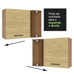Armário Aéreo de Canto Madesa Agata 1 Porta - Rustic/Carvalho