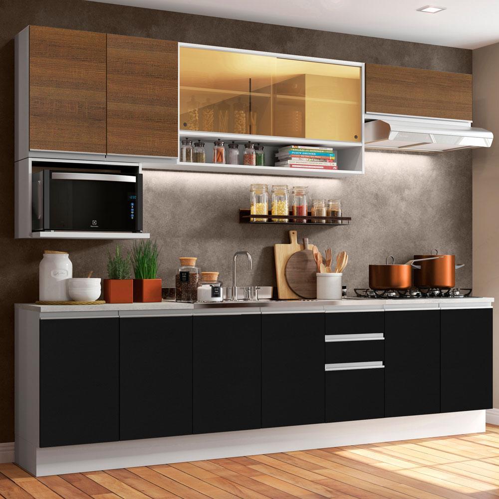 Cozinha Completa Madesa Genova com Armário e Balcão (Sem Tampo e Pia)