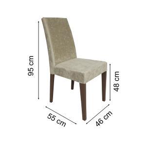 Conjunto Sala de Jantar Madesa Athena Mesa Tampo de Madeira com 6 Cadeiras