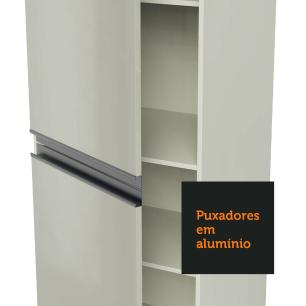 Paneleiro Madesa Smart 100% MDF 2 Portas Branco Brilho