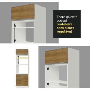 Cozinha Completa Madesa Roma 3 Gavetas 13 Portas (Sem Tampo e Pia)