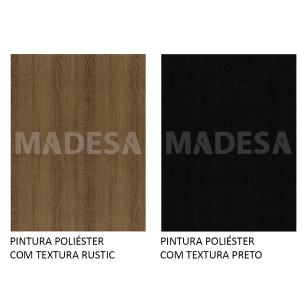 Rack Madesa Cairo e Painel para TV até 65 Polegadas com Pés de Madeira - Rustic/Preto/Rustic