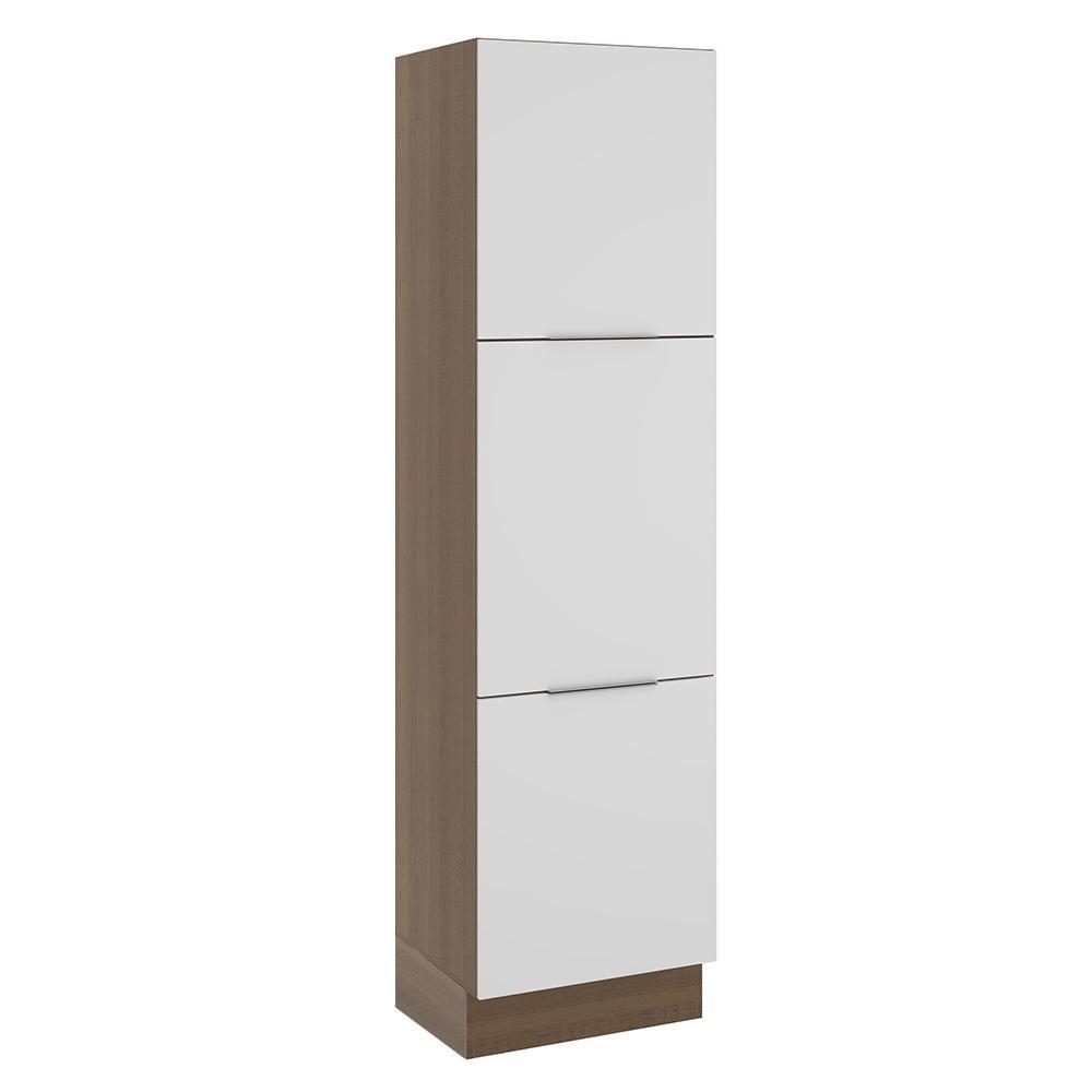 Paneleiro Madesa Stella 60 cm 3 Portas - Rustic/Branco