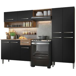Cozinha Compacta Madesa Emilly Pop Com Armário e Balcão