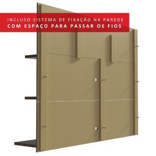 Painel para TV até 60 Polegadas Madesa Alfa com Prateleiras e Nichos - Rustic
