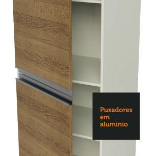 Paneleiro Madesa Smart 100% MDF 2 Portas - Branco/Rustic