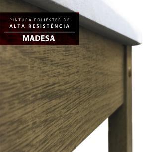 Conjunto Sala de Jantar Madesa Malibu Mesa Tampo de Madeira com 4 Cadeiras