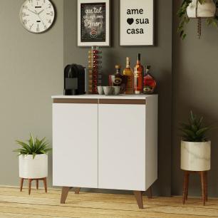 Balcão Cantinho do Café Madesa Reims 70 cm 2 Portas - Branco