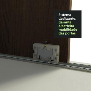 Guarda-Roupa Casal Madesa Austin 4 Portas de Correr 3 Gavetas - Branco/Rustic