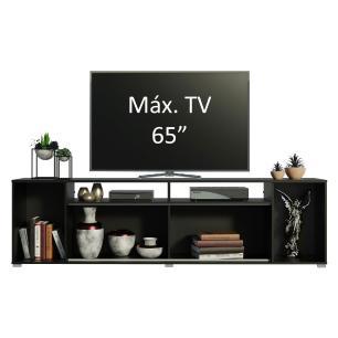 Rack para TV até 65 Polegadas Madesa Cancun - Preto/Branco
