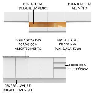 Cozinha Completa Madesa Mariana Com Armário e Balcão (Sem Tampo e Pia)