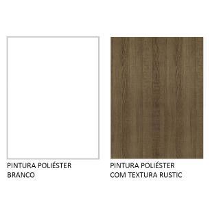 Balcão Gabinete de Pia Madesa Glamy 120 cm 2 Portas - Branco/Rustic