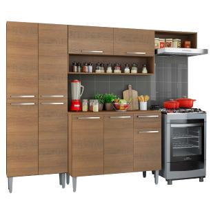 Cozinha Compacta Madesa Emilly Top com Armário e Balcão